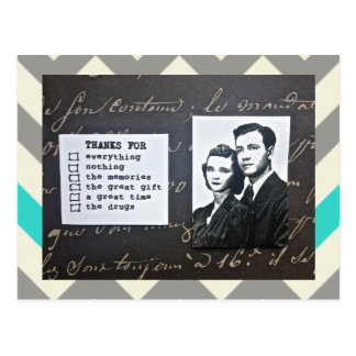 POSTCARD-THANK-YOU NOTE-FITS ANY OCCASION POSTCARD