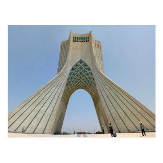 Postcard The Azadi Tower (Off Freedom), Tehran