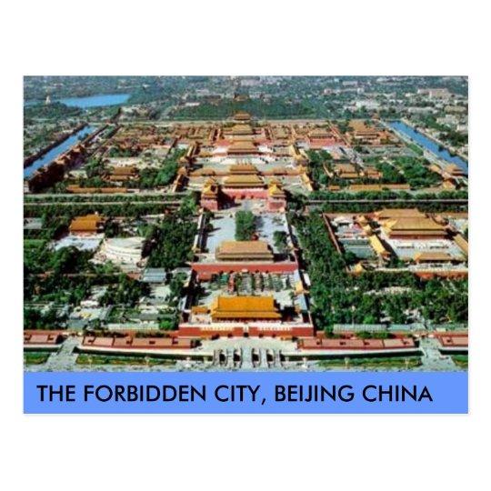 Postcard The Forbidden City Beijing Clouded