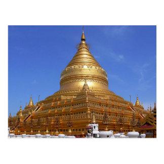 Postcard The Shwezigon Pagoda, Myanmar Burma