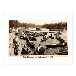 Postcard, The Thames at Richmond, 1937 Postcard