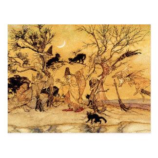 Postcard:  The Witches Sabbath - Halloween Art Postcard