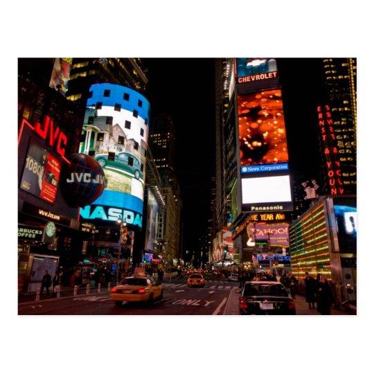 Postcard Times Square At night, Manhattan, the USA