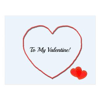 Postcard - To My Valentine Heart Shape