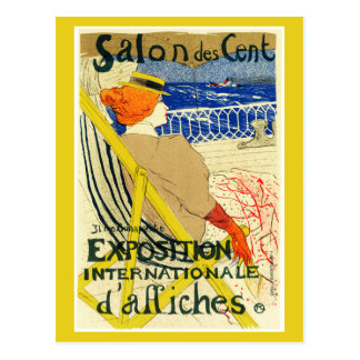 Postcard:  Toulouse Lautrec  - Salon des Cent Postcard