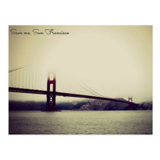 Postcard travel San Francisco bridge california