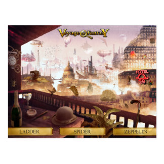 Postcard Travels to Fantasy - SteamPunk City