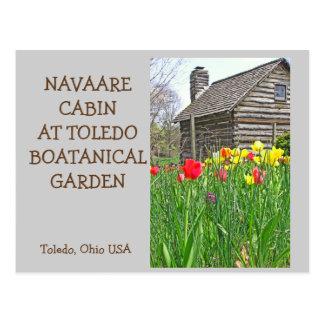 "postcard, ""TULIPS AND NAVAARE CABIN AT TOLEDO BOTA Postcard"