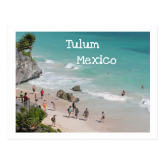 POSTCARD/TULUM, MEXICO/RUINS ABOVE BEACH POSTCARD