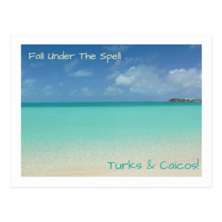 "postcard/TURKS AND CAICOS / ""FALL UNDER THE SPELL"" Postcard"