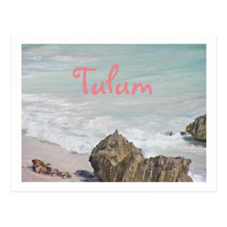 POSTCARD/ TURQUOISE WATER LAPPING AT BEACH/TULUM POSTCARD