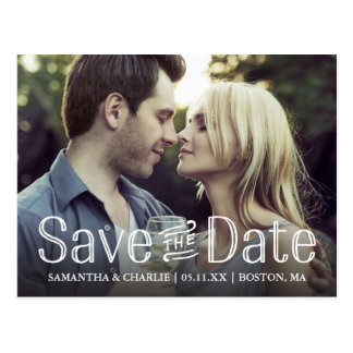 Postcard Typographic Save the Date Photo