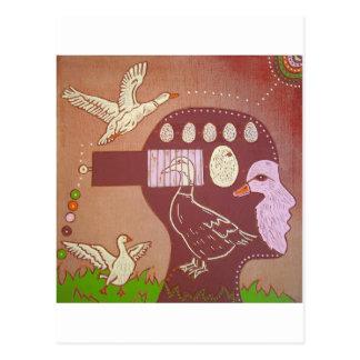 Postcard vegan duck
