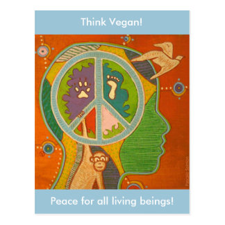 Postcard vegan peace