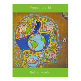 Postcard vegan world