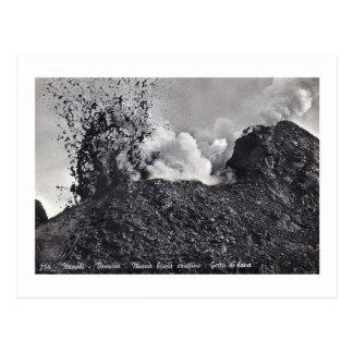 Postcard, Vesuvius Erupting Postcard