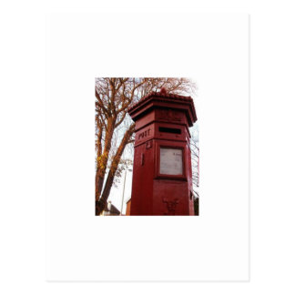 Postcard - Victorian English Post Box