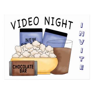 Postcard- Video Night Parties Postcard