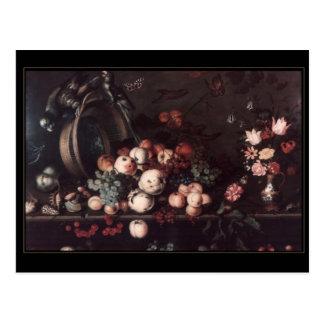 Postcard Vintage Art Still Life Flowers
