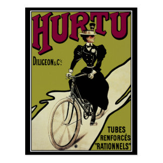 Postcard Vintage Bicycle Ad for Hurtu Bicycles