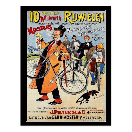 Postcard: Vintage bicycle advertising art