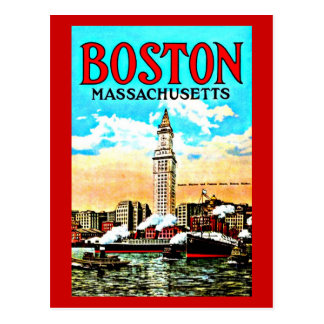 Postcard-Vintage Boston Artwork-34 Postcard