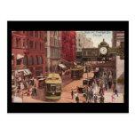 Postcard-Vintage Chicago Art-State & Randolph 1940