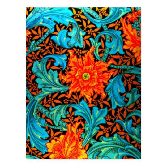 Postcard-Vintage Fabric/Fashion-William Morris 12 Postcard