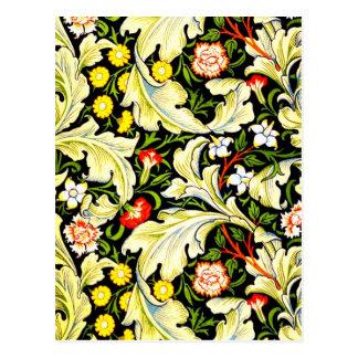 Postcard-Vintage Fabric/Fashion-William Morris 3 Postcard