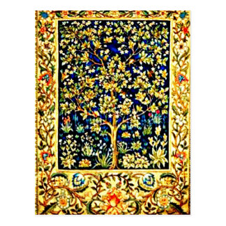 Postcard-Vintage Fabric/Fashion-William Morris 9 Postcard