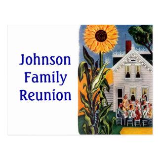 Postcard Vintage Front Porch Family tog Renuion PC