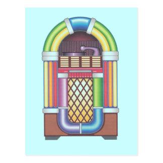 Postcard Vintage Jukebox Retro Party Invitations