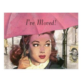 Postcard Vintage New Home Job I ve Moved Address