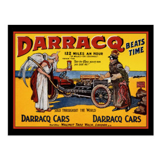 Postcard: Vintage Race Car: Darracq Cars Beats Tim Postcard