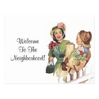 Postcard Vintage Retro Welcome To the Neighborhood