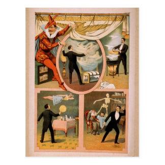 Postcard-vintage theater Magician advertisment Postcard