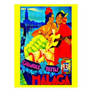 Postcard-Vintage Travel-Malaga Postcard