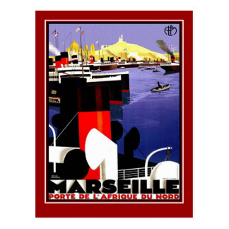 Postcard Vintage Travel Marseille
