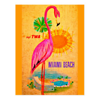 Postcard-Vintage Travel-Miami Beach Postcard