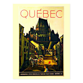 Postcard-Vintage Travel-Quebec Postcard
