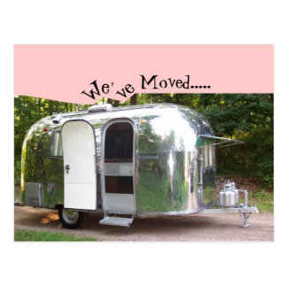 Postcard Vintage Travel Trailer Retro We've Moved