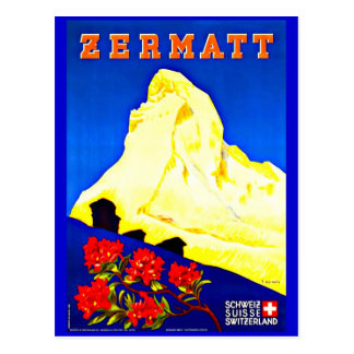 Postcard-Vintage Travel-Zermatt Postcard