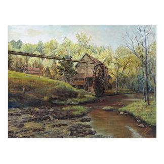Postcard - Watermill at Daybreak