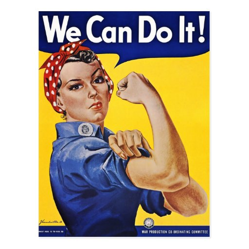 Postcard: We Can Do It  - Vintage Poster Image