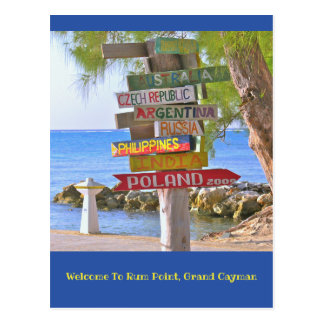 postcard/Welcome To Rum Point, Grand Cayman Postcard