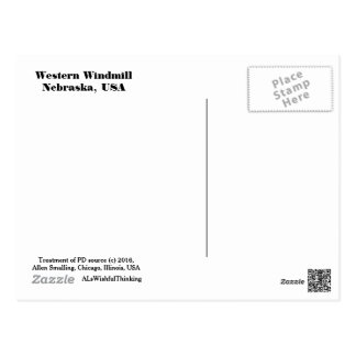 Postcard - Western Windmill (Daytime)