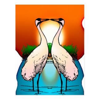 Postcard-Whooping Crane Love Birds Postcard