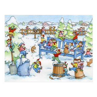 "Postcard ""Winter Garden"""