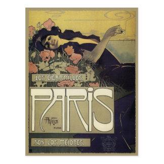 Postcard With Alexandre de Riquer Painting
