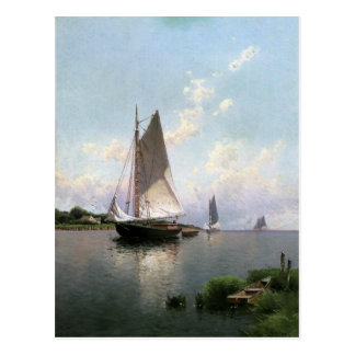 Postcard With Alfred Thompson Bricher Painting
